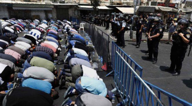 la resistencia palestina a las provocaciones de Israel abre una crisis política
