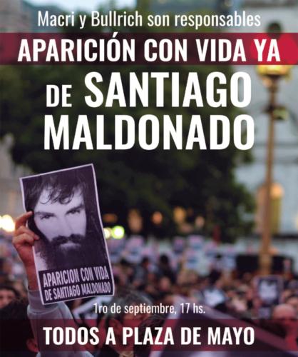 Campaña Internacional-  Millones en el mundo se preguntan  ¿A dónde está Santiago Maldonado?