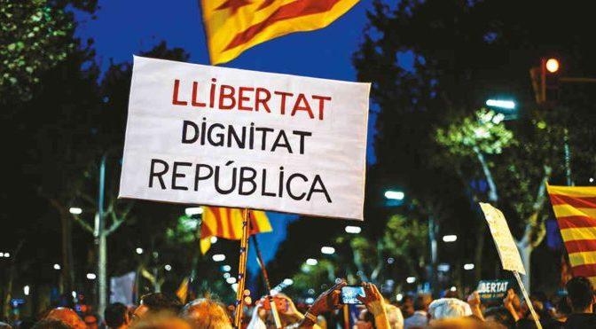 Enfrentar en las calles la ofensiva antidemocrática del Estado español. Por la libertad de los presos y el derecho a decidir del pueblo catalán
