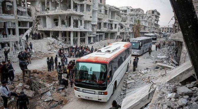 el régimen de Al Assad se impone en gran parte del territorio