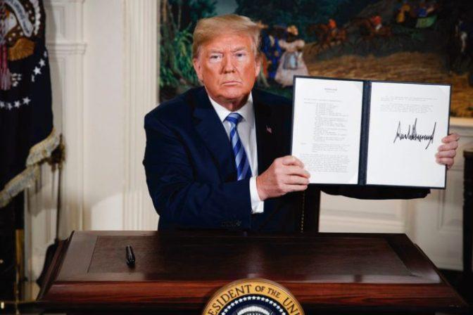 Trump se retira del acuerdo nuclear con Irán