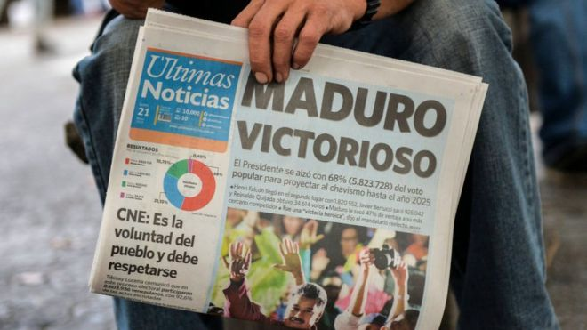 """Las """"elecciones"""" presidenciales abren una nueva etapa de la crisis política en Venezuela"""