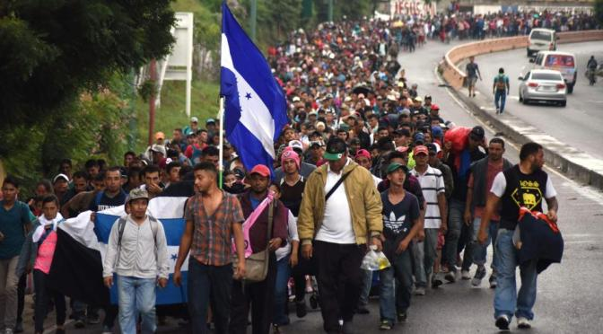 Solidaridad internacional con los migrantes hondureños – Abajo la persecución y militarización de fronteras del gobierno de Trump