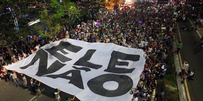 Movilizaciones en todo Brasil #Ele nao